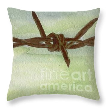 Auschwitz Throw Pillow