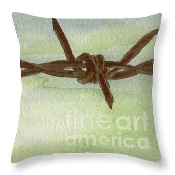 Auschwitz Throw Pillow by Annemeet Hasidi- van der Leij