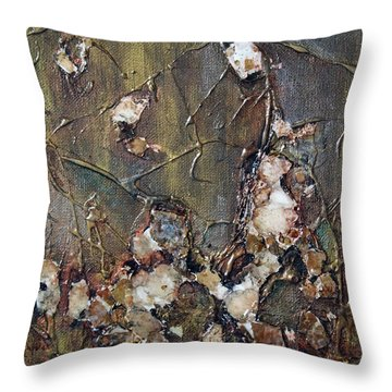 Throw Pillow featuring the painting Autumn Leaves by Joanne Smoley