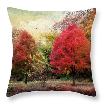 Autumn's Canvas Throw Pillow by Jessica Jenney