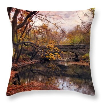Autumn's Ending Throw Pillow by Jessica Jenney