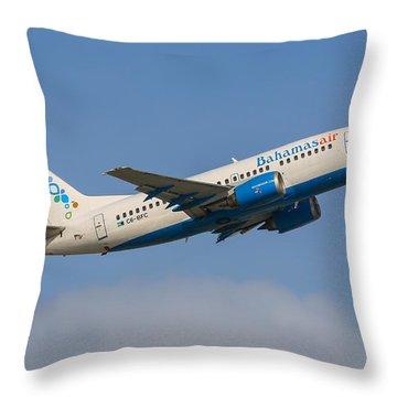 Bahamas Air Throw Pillow