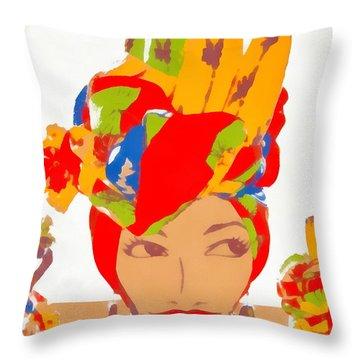 Throw Pillow featuring the photograph Bananas by Beto Machado