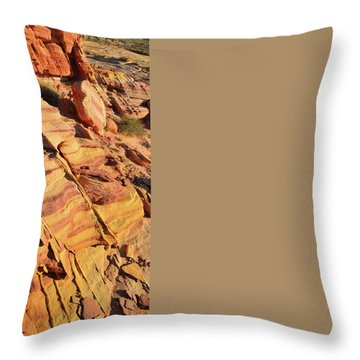 Throw Pillow featuring the photograph Bands Of Color In Valley Of Fire by Ray Mathis