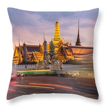 Bangkok Wat Phra Keaw Throw Pillow