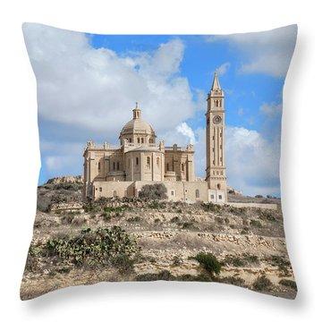 Basilica Ta Pinu - Gozo Throw Pillow
