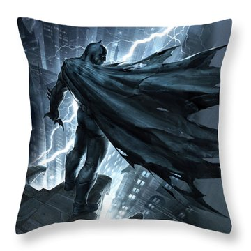 Batman The Dark Knight Returns 2012 Throw Pillow by Unknown