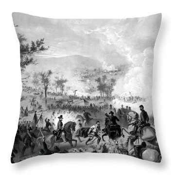 Battle Of Gettysburg Throw Pillow by War Is Hell Store