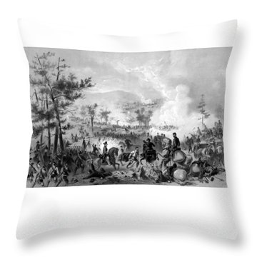 Throw Pillow featuring the drawing Battle Of Gettysburg by War Is Hell Store