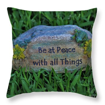 Throw Pillow featuring the photograph 2- Be At Peace by Joseph Keane