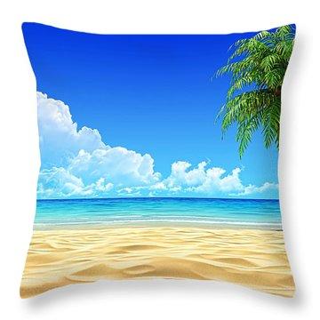 Beach Collection Throw Pillow