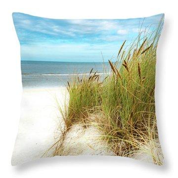 Throw Pillow featuring the photograph Beach Grass by Hannes Cmarits