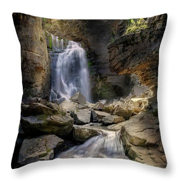Throw Pillow featuring the photograph Beartooth Falls by Craig J Satterlee