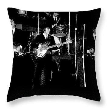 Beatles In Concert 1964 Throw Pillow