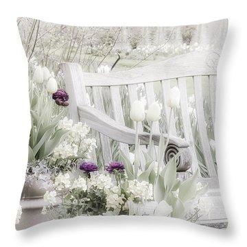 Beauty Of A Spring Garden Throw Pillow