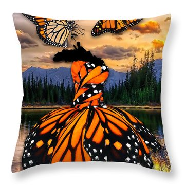 Throw Pillow featuring the mixed media Believe by Marvin Blaine