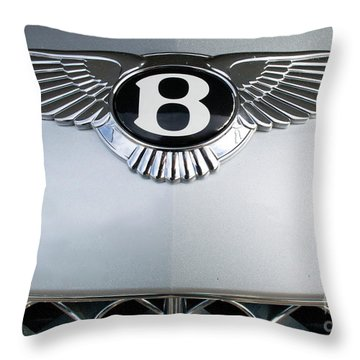 Bentley Emblem Throw Pillow by Pamela Walrath