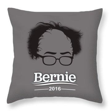 Bernie Sanders Throw Pillow by Marvin Blaine