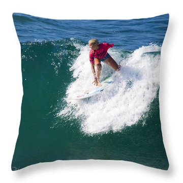 Bethany Hamilton Throw Pillow