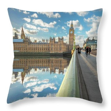 Throw Pillow featuring the photograph Big Ben London by Adrian Evans
