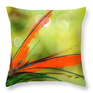Bird Of Paradise 2 Throw Pillow by Kume Bryant