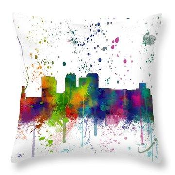 Birmingham Alabama Skyline Throw Pillow
