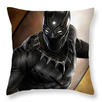 Black Panther Collection Throw Pillow