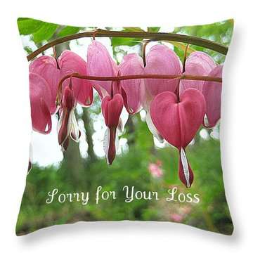 Bleeding Heart Melody Throw Pillow by Shirley Sirois