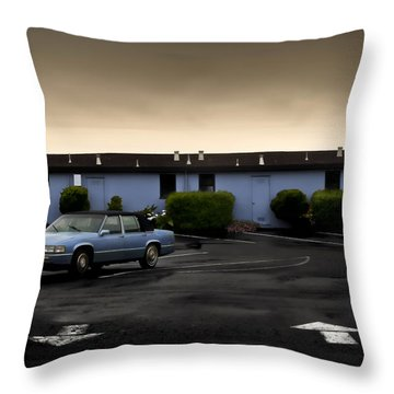 Blue Motel Throw Pillow by John Hansen