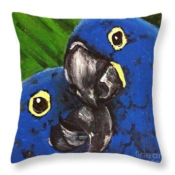 2 Blue Throw Pillow