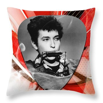 Bob Dylan Art Throw Pillow