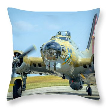 Boeing B-17g Flying Fortress   Throw Pillow