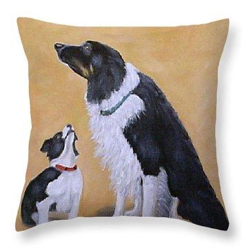 Border Collie Wisdom Throw Pillow