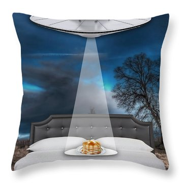 Breakfast In Bed Throw Pillow by Marvin Blaine