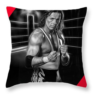 Bret Hart The Hitman Wrestling Collection Throw Pillow
