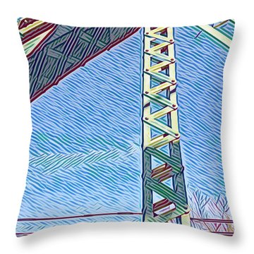 Bridge At Guerneville Throw Pillow
