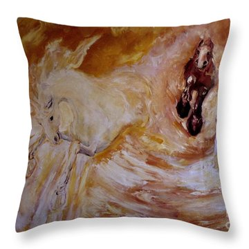 Bringers Of The Dawn Section Of Mural Throw Pillow