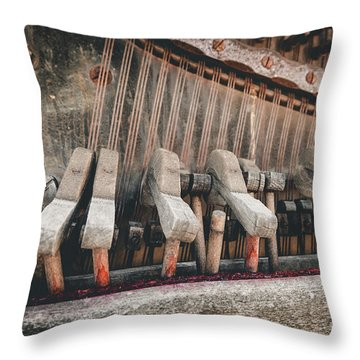 Broken Piano Throw Pillow