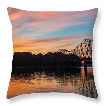 Browns Bridge Sunset Throw Pillow