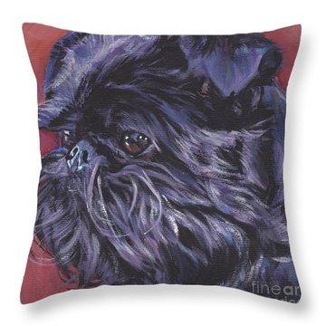 Brussels Griffon Throw Pillow by Lee Ann Shepard