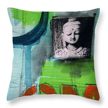 Buddha Throw Pillow by Linda Woods