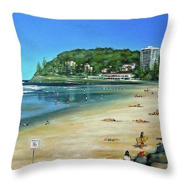 Burleigh Beach 100910 Throw Pillow