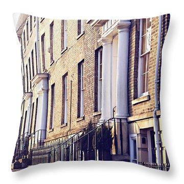 Bury St Edmunds Buildings Throw Pillow