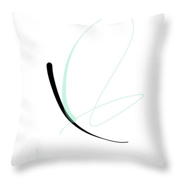 Throw Pillow featuring the mixed media Butterfly by Larry Talley