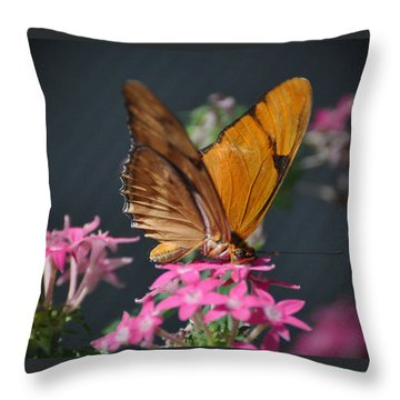 Throw Pillow featuring the photograph Butterfly by Savannah Gibbs