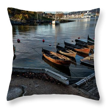 Bygdoy Harbor Throw Pillow