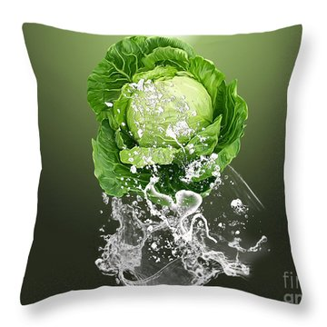 Cabbage Splash Throw Pillow by Marvin Blaine