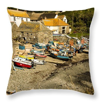 Throw Pillow featuring the photograph Cadgwith Cove by Brian Roscorla