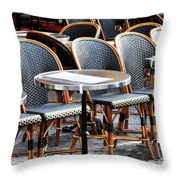 Cafe Terrace In Paris Throw Pillow