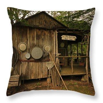 Cajun Cabin Throw Pillow
